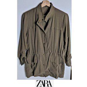 Zara | Snap front utility jacket
